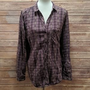 Urban Outfitters BDG Purple Cotton Flannel
